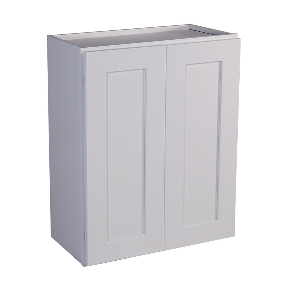 white shaker wall cabinets